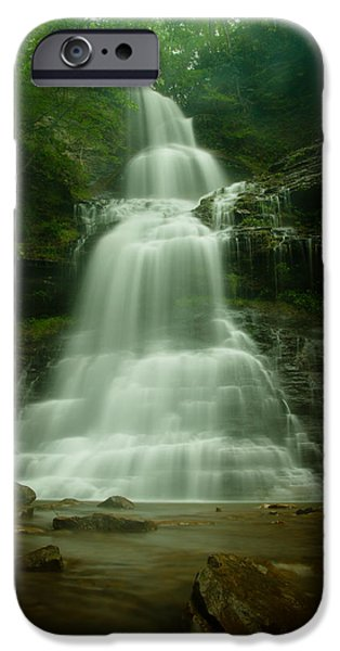 Cathedral Rock iPhone Cases - Cathedral Falls iPhone Case by Shane Holsclaw