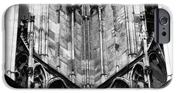 Historic Site iPhone Cases - Cathedral Gargoyle 02 iPhone Case by Teresa Mucha