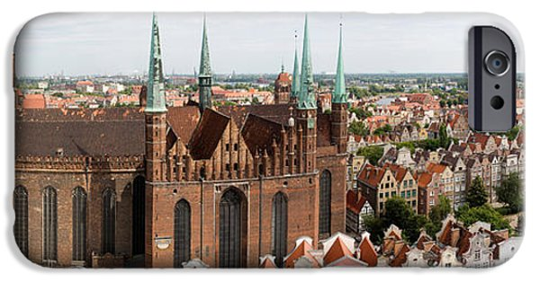 Marys iPhone Cases - Cathedral In A City, St. Marys Church iPhone Case by Panoramic Images