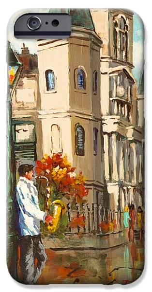 Alley Paintings iPhone Cases - Cathedral Jazz iPhone Case by Dianne Parks