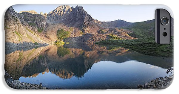 Cathedral Rock iPhone Cases - Cathedral Lake Reflection iPhone Case by Aaron Spong