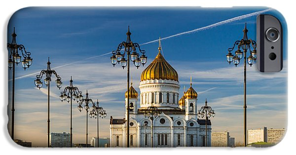 Russian Cross iPhone Cases - Cathedral of Christ the Savior 3 - Featured 3 iPhone Case by Alexander Senin