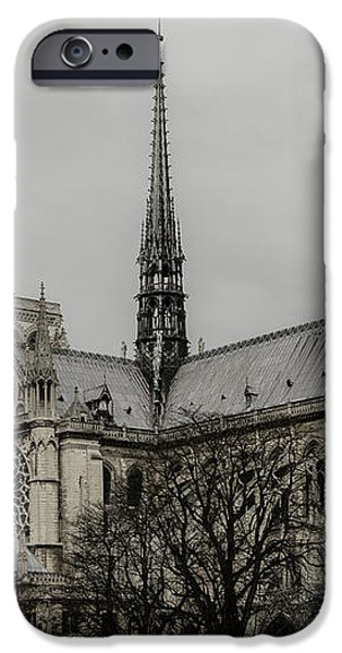 Cathedral of Notre Dame de Paris iPhone Case by Marco Oliveira