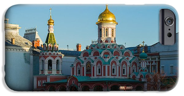 Russian Icon iPhone Cases - Cathedral of Our Lady of Kazan - Square iPhone Case by Alexander Senin