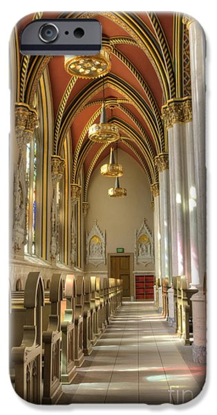 Chandelier iPhone Cases - Cathedral of Saint Helena iPhone Case by Juli Scalzi