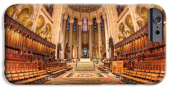 The Vault iPhone Cases - Cathedral of Saint John the Divine I iPhone Case by Clarence Holmes