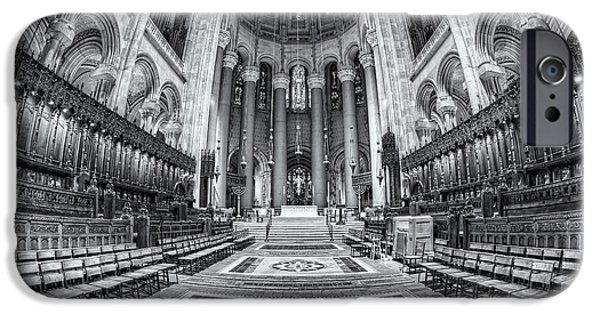 The Vault iPhone Cases - Cathedral of Saint John the Divine II iPhone Case by Clarence Holmes