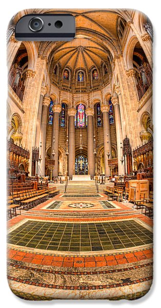 The Vault iPhone Cases - Cathedral of Saint John the Divine III iPhone Case by Clarence Holmes