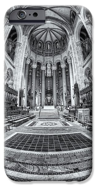 The Vault iPhone Cases - Cathedral of Saint John the Divine IV iPhone Case by Clarence Holmes