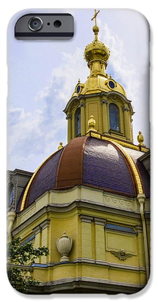 St John The Russian iPhone Cases - Cathedral of Saints Peter and Paul iPhone Case by Jon Berghoff