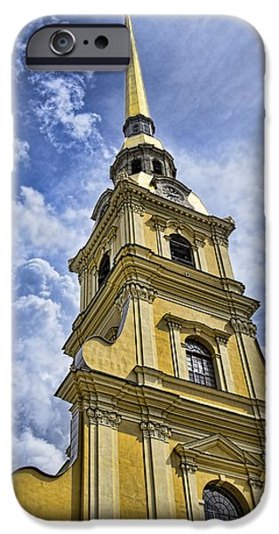 St John The Russian iPhone Cases - Cathedral of Saints Peter and Paul - St. Persburg Russia iPhone Case by Jon Berghoff