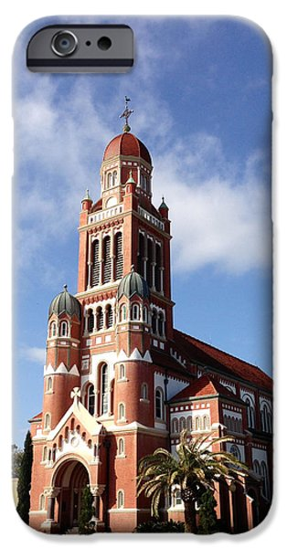 St John The Evangelist iPhone Cases - Cathedral of St. John the Evangelist iPhone Case by Sheila Harnett