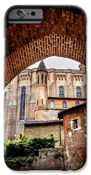 Cathedral of Ste-Cecile in Albi France iPhone Case by Elena Elisseeva