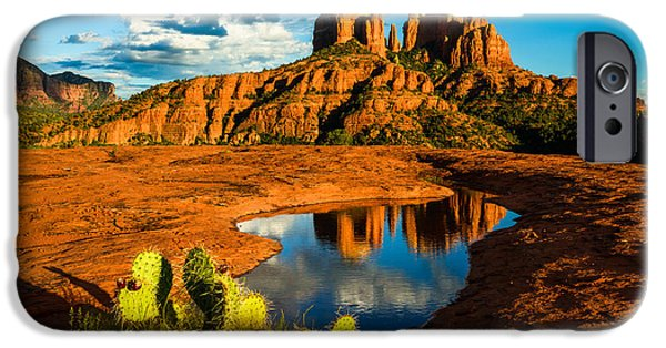 Best Sellers -  - Cathedral Rock iPhone Cases - Cathedral of Stone - Sedona Arizona iPhone Case by Adam  Schallau