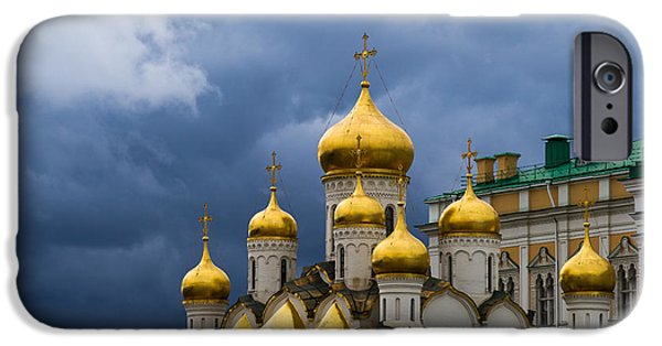 Annunciation iPhone Cases - Cathedral Of The Annunciation Of Moscow Kremlin iPhone Case by Alexander Senin