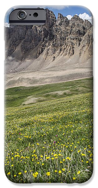 Landscape With Mountains iPhone Cases - Cathedral Peak iPhone Case by Aaron Spong