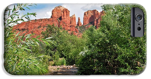 Recently Sold -  - Cathedral Rock iPhone Cases - Cathedral Point - Sedona Arizona iPhone Case by Gregory Ballos