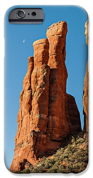 Cathedral Rock Digital Art iPhone Cases - Cathedral Rock 04-017 iPhone Case by Scott McAllister