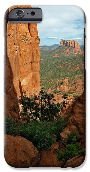 Cathedral Rock iPhone Cases - Cathedral Rock 05-012 iPhone Case by Scott McAllister
