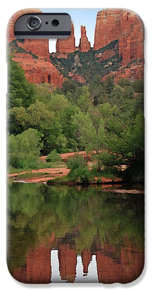 Cathedral Rock iPhone Cases - Cathedral Rock 1 iPhone Case by Ellen Henneke