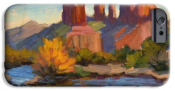 Sedona iPhone Cases - Cathedral Rock 2 iPhone Case by Diane McClary