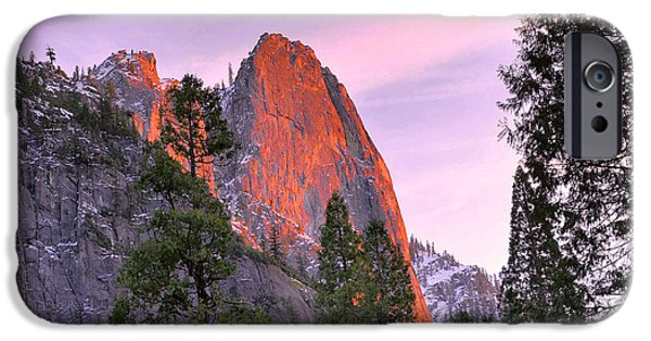 Cathedral Rock iPhone Cases - Cathedral Rock Alpenglow iPhone Case by Stephen  Vecchiotti
