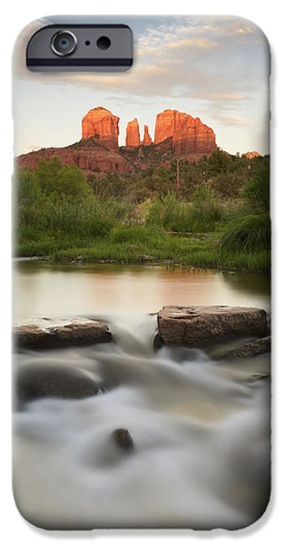 Cathedral Rock iPhone Cases - Cathedral Rock At Red Rock iPhone Case by Peter Carroll