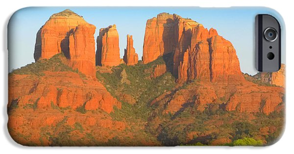 Cathedral Rock Digital Art iPhone Cases - Cathedral Rock iPhone Case by Carolyn Krek