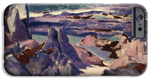 Colorist iPhone Cases - Cathedral Rock iPhone Case by Francis Campbell Boileau Cadell