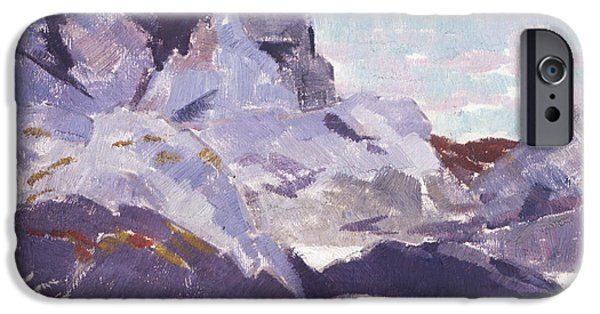 Colorist iPhone Cases - Cathedral Rock  Iona iPhone Case by Francis Campbell Boileau Cadell