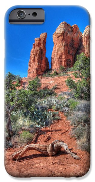 Cathedral Rock iPhone Cases - Cathedral Rock iPhone Case by Lori Deiter