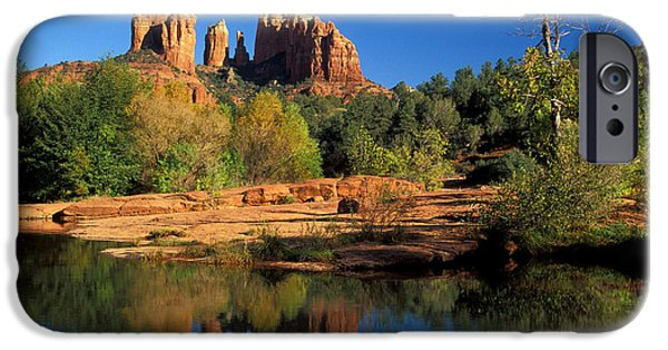 Cathedral Rock iPhone Cases - Cathedral Rock iPhone Case by Mark Newman