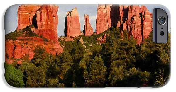 Oak Creek iPhone Cases - Cathedral Rock iPhone Case by  Bob and Nadine Johnston