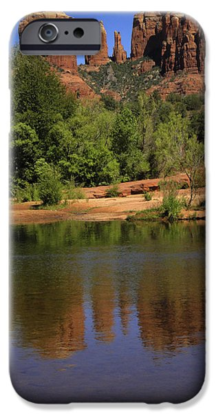 Cathedral Rock iPhone Cases - Cathedral Rock iPhone Case by Penny Lisowski