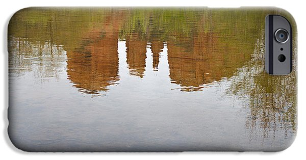 Cathedral Rock iPhone Cases - Cathedral Rock Reflections iPhone Case by Dave Gordon