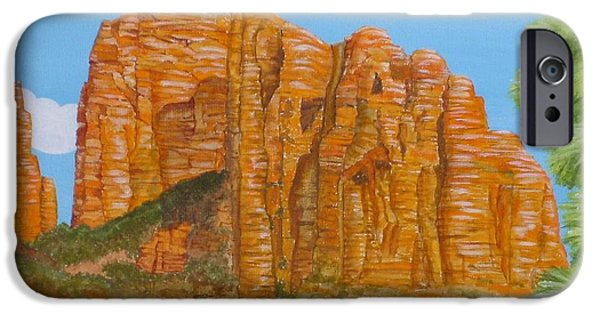 Cathedral Rock iPhone Cases - Cathedral Rock Sedona AZ Right iPhone Case by Carol Sabo