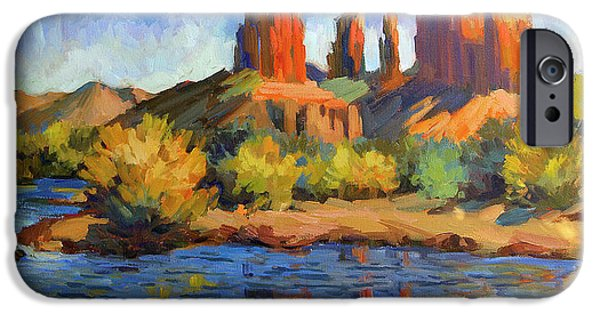 Sedona iPhone Cases - Cathedral Rock Sedona iPhone Case by Diane McClary