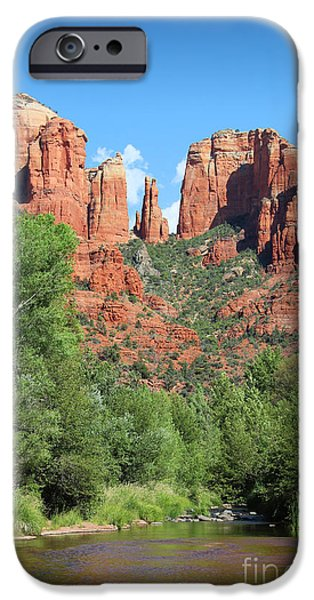 Oak Creek iPhone Cases - Cathedral Rock Sedona iPhone Case by Jemmy Archer