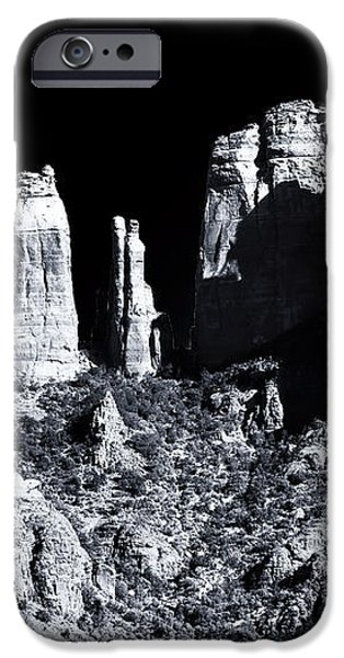 Cathedral Rock Shadows iPhone Case by John Rizzuto