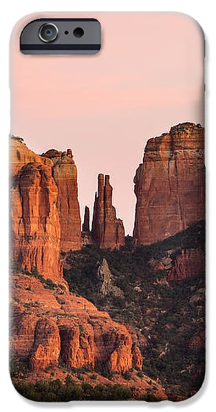 Cathedral Rock Sunset iPhone Case by Mary Jo Allen