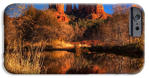 Oak Creek iPhone Cases - Cathedral Rock iPhone Case by Tom Weisbrook