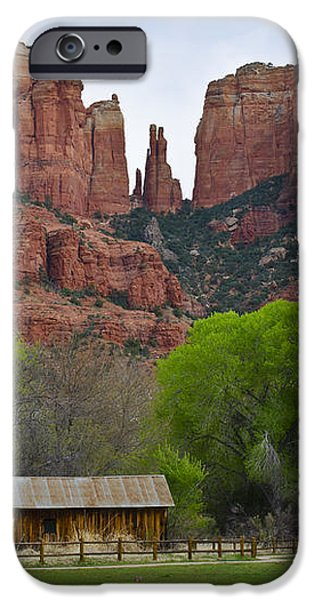 Cathedral Rock V iPhone Case by David Gordon