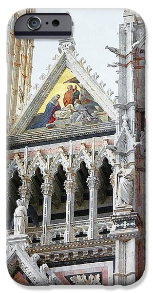 Old Churches iPhone Cases - Cathedrals Of Tuscany Siena Italy iPhone Case by Irina Sztukowski