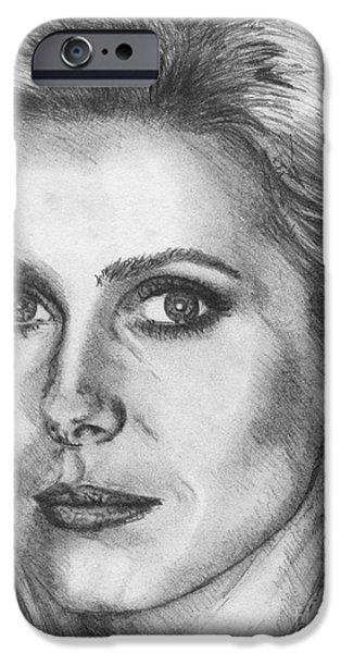 Catherine Deneuve in 1976 iPhone Case by J McCombie