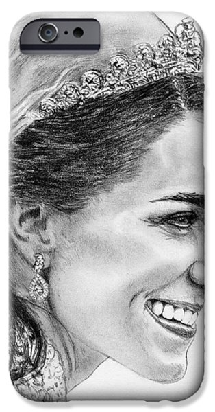 Duchess iPhone Cases - Catherine - Duchess of Cambridge in 2011 iPhone Case by J McCombie