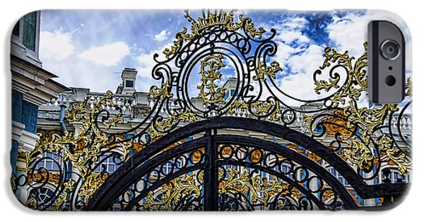 St John The Russian iPhone Cases - Catherine Palace Entry Gate - St Petersburg Russia iPhone Case by Jon Berghoff