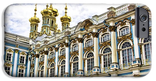 St John The Russian iPhone Cases - Catherine Palace - St Petersburg Russia iPhone Case by Jon Berghoff