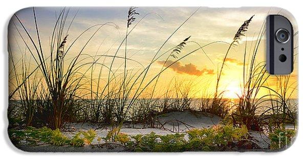 Beach Landscape Mixed Media iPhone Cases - Cativa Beach iPhone Case by Jon Neidert