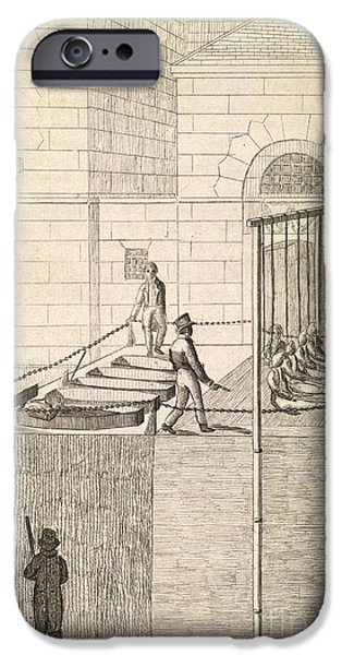 Hangman iPhone Cases - Cato Street Conspiracy Executions, 1820 iPhone Case by British Library