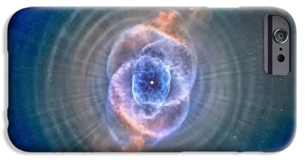 Jet Star iPhone Cases - Cats Eye Nebula iPhone Case by Eti Reid